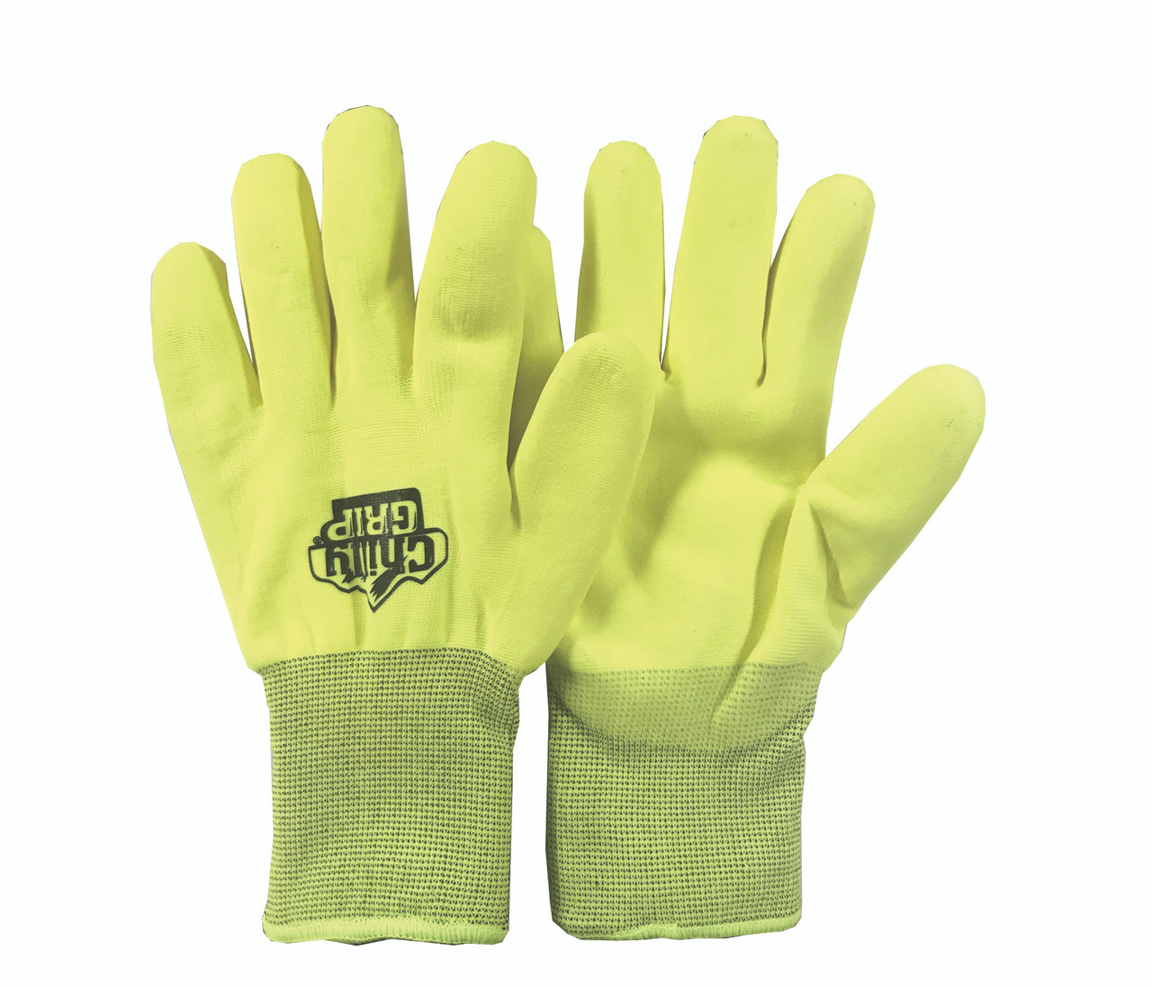 Insulated, Hi-Vis Palm Coated Water Repellent PVC  ## A-319 ##