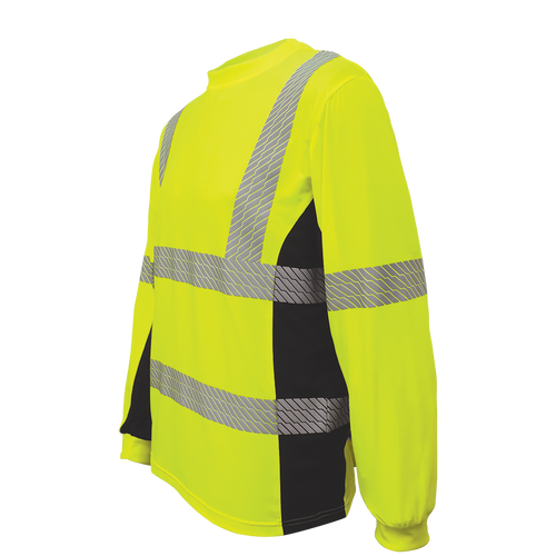 Global Glove GLO-225LS - FrogWear HV - High-Visibility High Performance Stretch Shirt