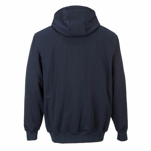 Portwest UFR81 - FR Zipper Front Hooded Sweatshirt Navy