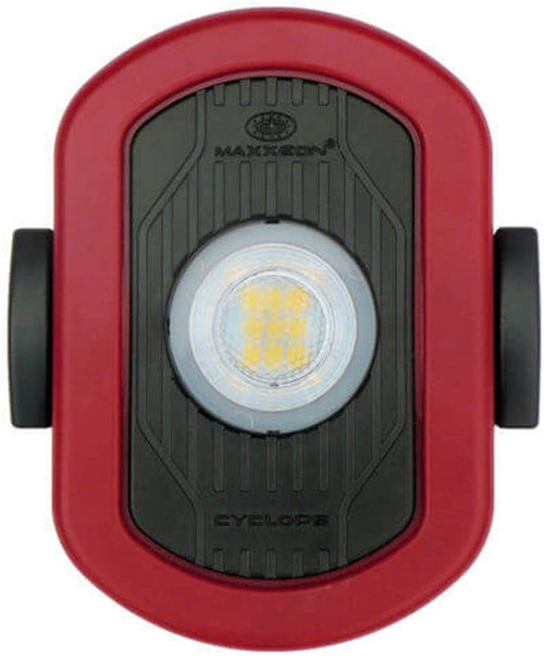 Maxxeon MXN00810 WorkStar Cyclops USB Rechargeable LED Area Work Light, Red