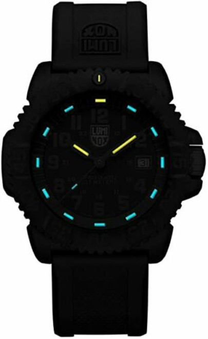 Luminox 3053 Navy SEAL Colormark 44mm Wrist Watch for Men - Black/Blue