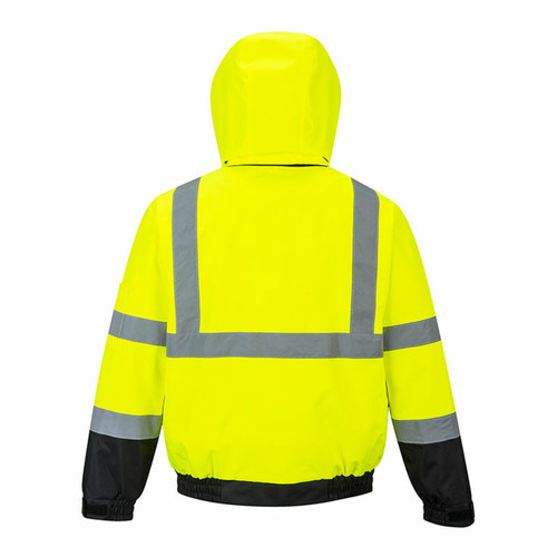 Portwest US364YBR Class 3 High Visibility 2-in-1 Bomber Jacket