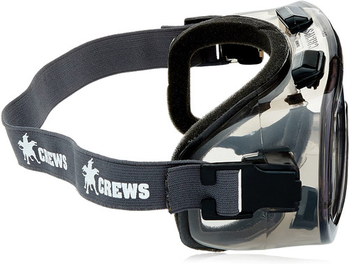 MCR Safety 2410F Verdict Polyvinyl Chloride Strap Foam Lining Safety Goggle with  Clear Anti-Fog Lens