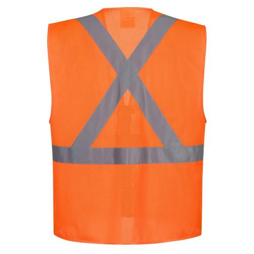 Portwest US370 Atlanta X Back Hi-Vis Safety Vest - Orange - X BACK