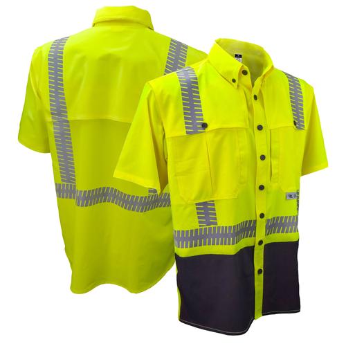 Radians SW11-2BGR-S Industrial Safety Shirt Short Sleeve