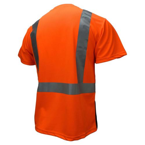 Radians ST11B-2POS Type R Class 2 Black Bottom Mesh Safety Shirt - Orange - BACK