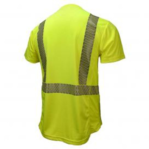 Radians ST31-2PGS Type R Class 2 Mesh Safety Shirt with RadCool - Yellow/Lime - back