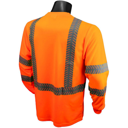 Radians ST24-3 Type R Class 3 Mesh Safety Shirt with UV Protection - Orange - BACK
