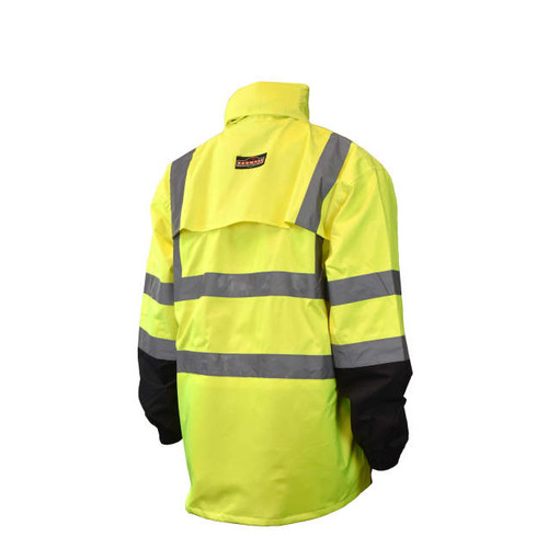Radians RW30-3Z1Y General Purpose Rain Jacket - Yellow/Black - BACK