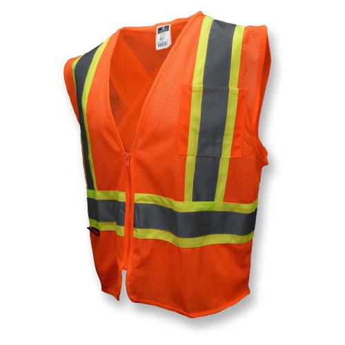 Radians SV22X-2ZOM Type R Class 2 Mesh Two-Tone X-Back Safety Vest - Orange