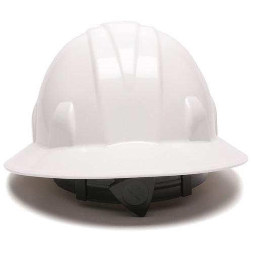 Pyramex HP24110 SL Series Full Brim Hard Hat - 4-Point Ratchet Suspension - White