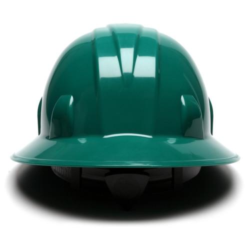 Pyramex HP24135 SL Series Full Brim Hard Hat - 4-Point Ratchet Suspension - Green