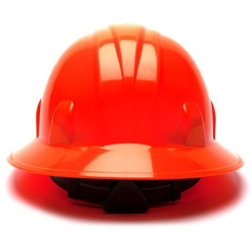 Pyramex HP24141 SL Series Full Brim Hard Hat - 4-Point Ratchet Suspension - Hi-Viz Orange