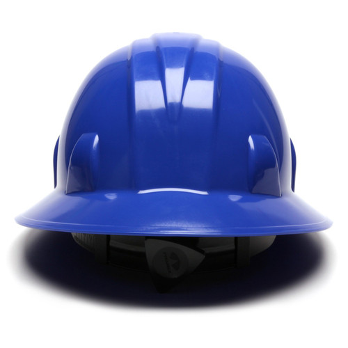 Pyramex HP24160 SL Series Full Brim Hard Hat - 4-Point Ratchet Suspension - Blue