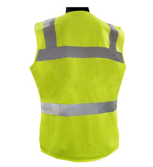 ERB VEST720 CLASS 2 Hi-Vis Lime Green Women's  Safety Vest
