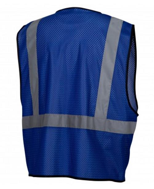 Pyramex RV1265Non-ANSI Enhanced Visibility Blue Mesh Vest- L/XL Vest