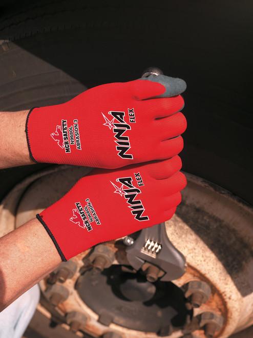 MCR N9680 Red Ninja-Flex® Gloves, 15 gauge