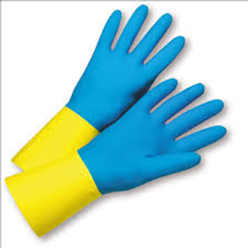 """LIBERTY GLOVE 2570SC 12"""" Neoprene over Latex, Chemical Resistant Gloves-(12 PAIRS)"""