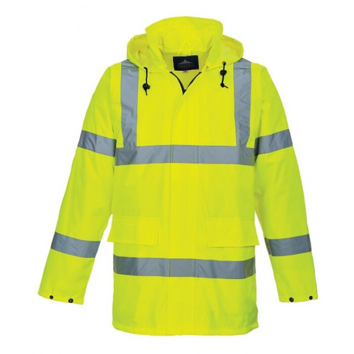 Class 3 Hi-Vis Rainsuits with Tuckable Hood - 2 Piece
