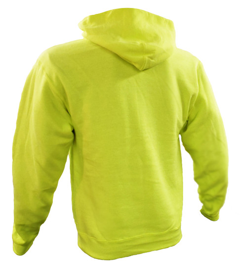 Non-ANSI Hi-Vis Hooded Sweatshirts Back