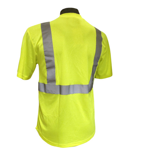 Hi-Vis Knit Class 2 Green T-Shirt Back