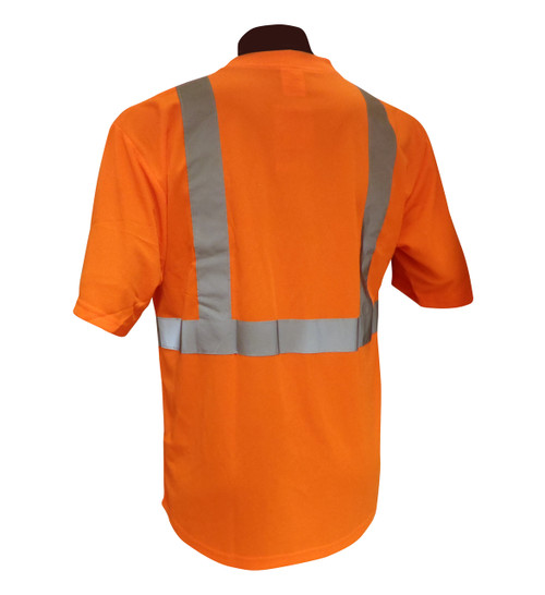 Hi-Vis Knit Class 2 Orange T-Shirt Back