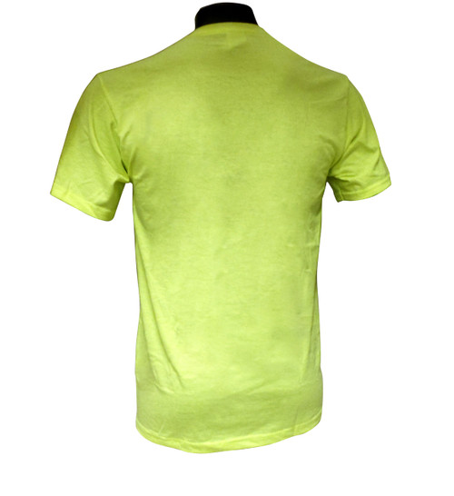 Jerzees® Safety Green Cotton / Poly T-Shirts with Pocket Back