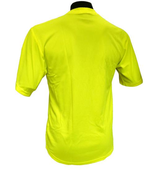 Moister wicking Hi-Vis Knit Lime T-Shirts-BACK