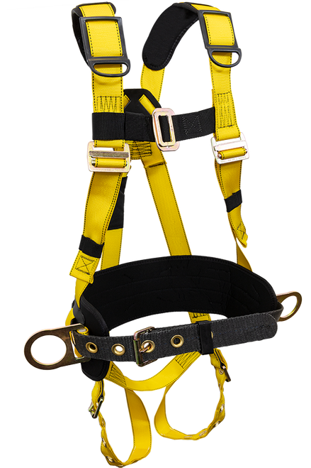 """French Creek 850AB Grommet/Tongue Buckle Leg Straps, 6"""" Adjustable Back Pad, Removable Leather-Lined Tongue Buckle Tool Belt With Shoulder Pads And Hip Positioning D-Rings"""