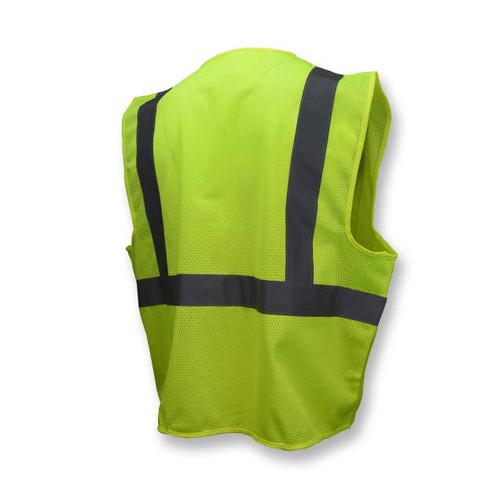 Radians SV2ZGM Economy, ZIPPER FRONT, Type R Class 2 Mesh Safety Vest