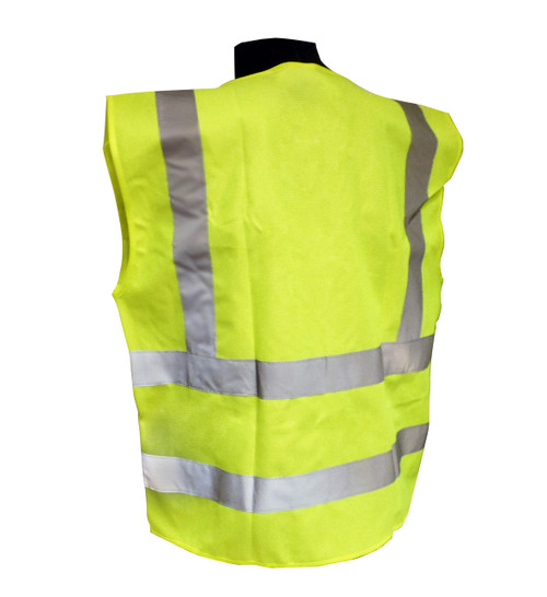 5 Point Breakaway Class 2 Safety Vests - Solid Twill Back