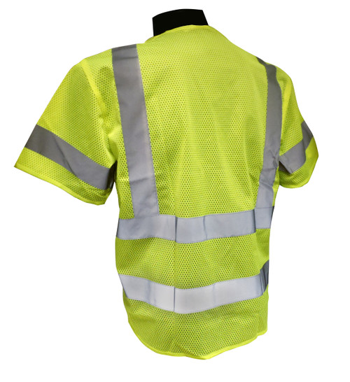 Non-Breakaway Mesh Class 3 Safety Vests Back