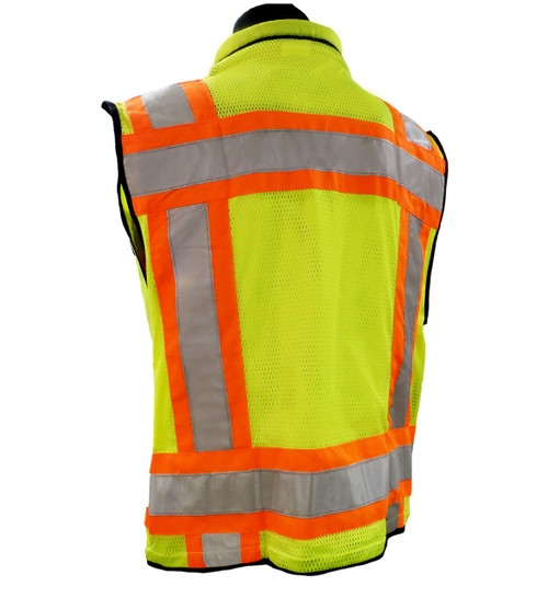 Heavy Duty Hi-Vis Surveyor Safety Vests - Class 2 Back