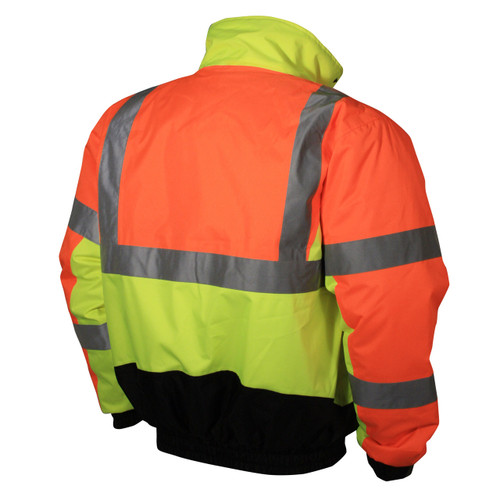 Radians SJ12-3ZMS Type R Class 3 Multi-Color Bomber Jacket - Yellow/Lime & Orange