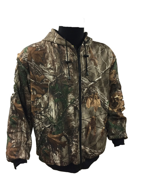 FORESTER CLASS 3 REVERSIBLE MID WEIGHT HOODED SWEATSHIRT - SAFETY GREEN/BLACK BOTTOM - REAL TREE CAMO