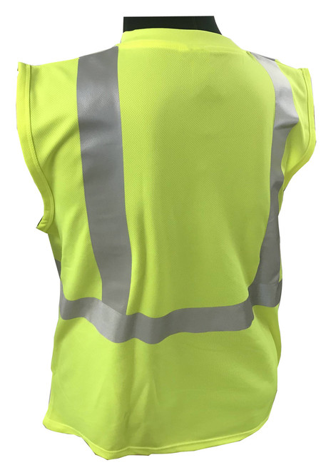 Hi-Vis Knit Sleeveless Class 2 Green Shirt  ## SLG820 ##