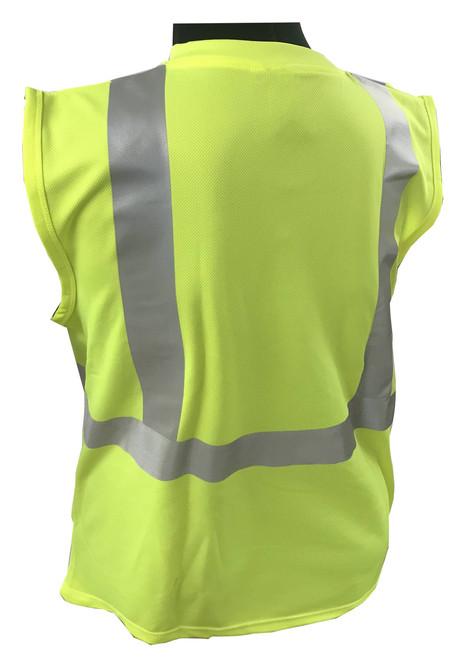 Hi-Vis Knit Sleeveless Class 2 Green Shirt  ## SLG820 ##