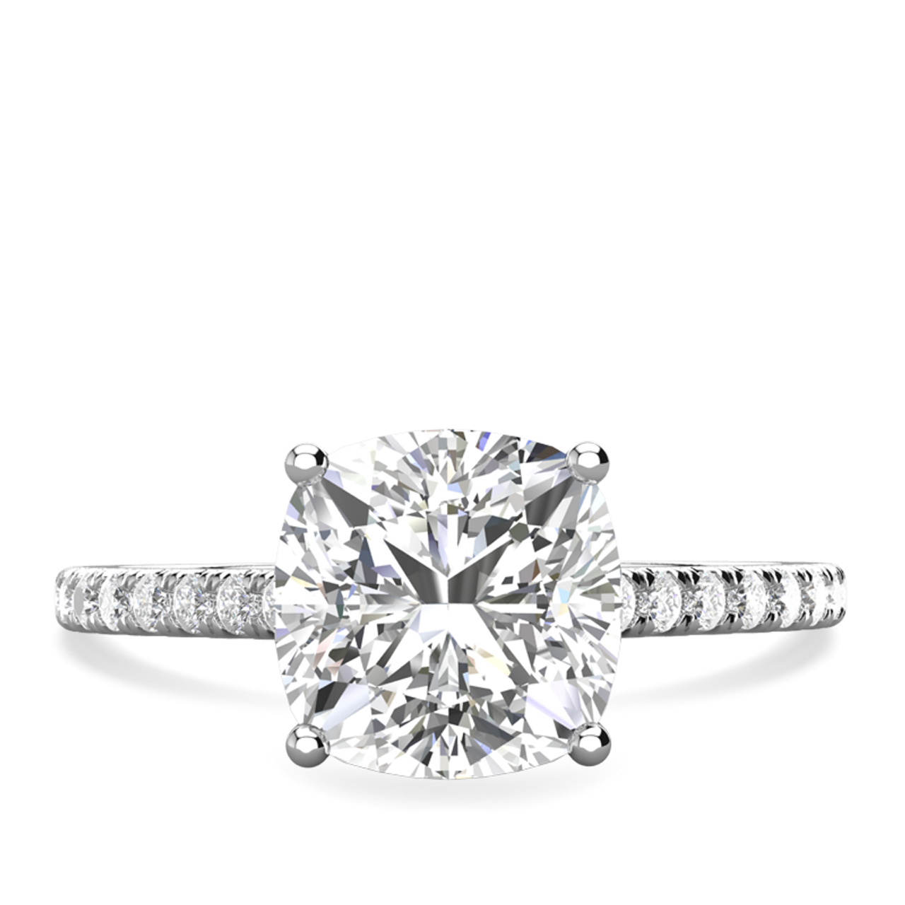 Charlotte Cushion Cut Engagement Ring