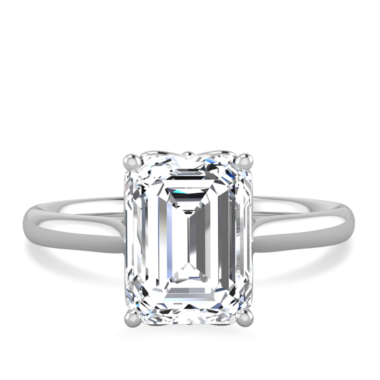 63a11271178d4 Lily Emerald Cut Engagement Ring