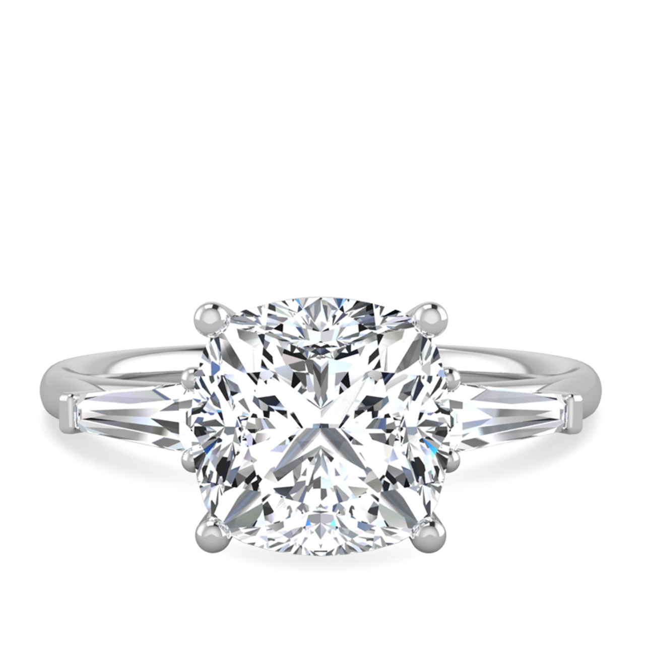 Malory Cushion Cut Engagement Ring