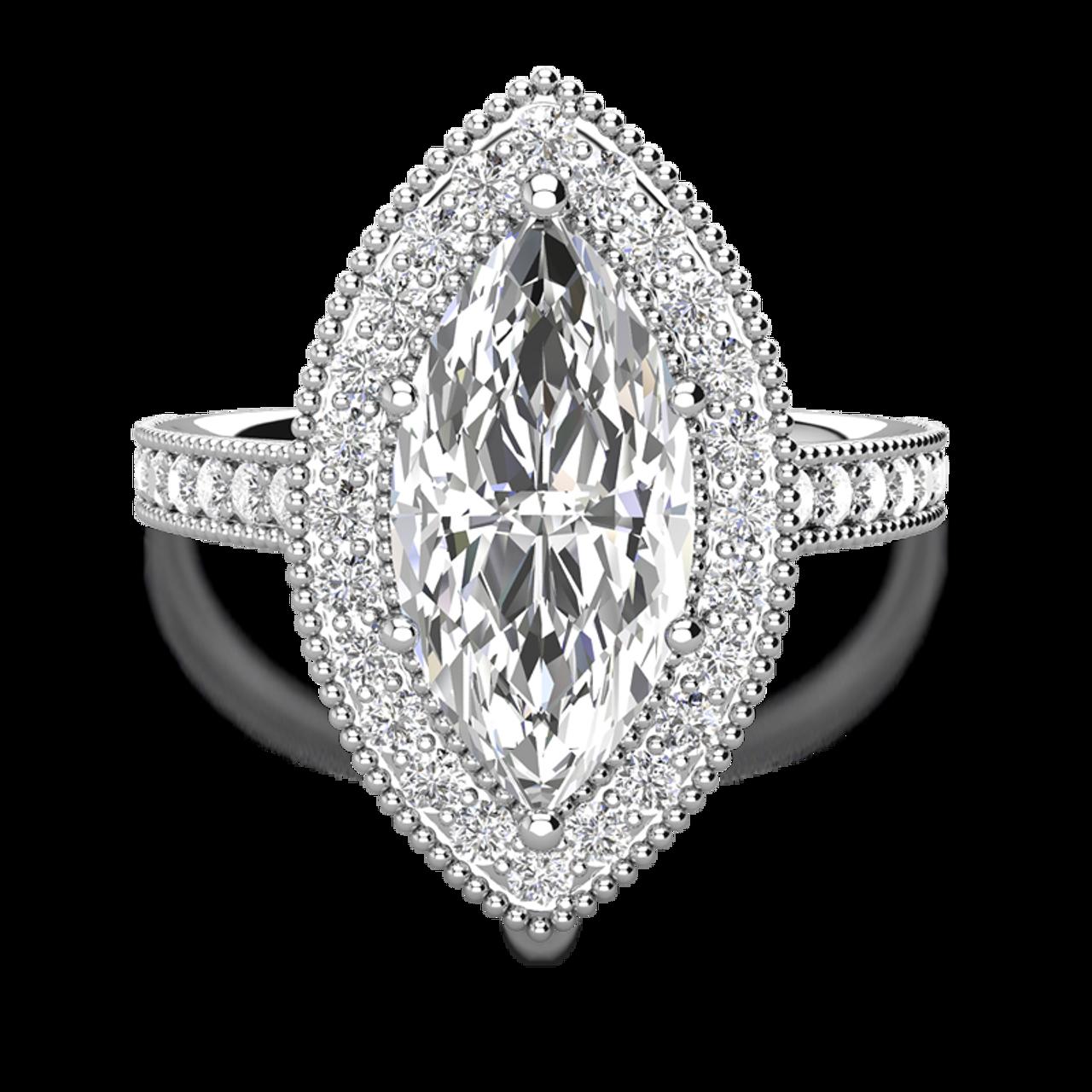 da0aad8d9c2ad Laura Preshong | Custom Marquise Halo Engagement Ring
