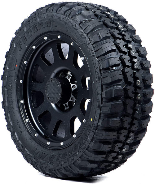LT225/75R16 FEDERAL COURAGIA M/T 10PLY 115/112Q OWL M+S 80psi****30K*****