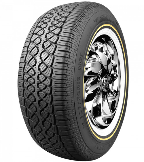 "215/70R15 VOGUE CBR VII-S 98T SL 500AB 1"" GOLD/WHITE WALL***60K***"