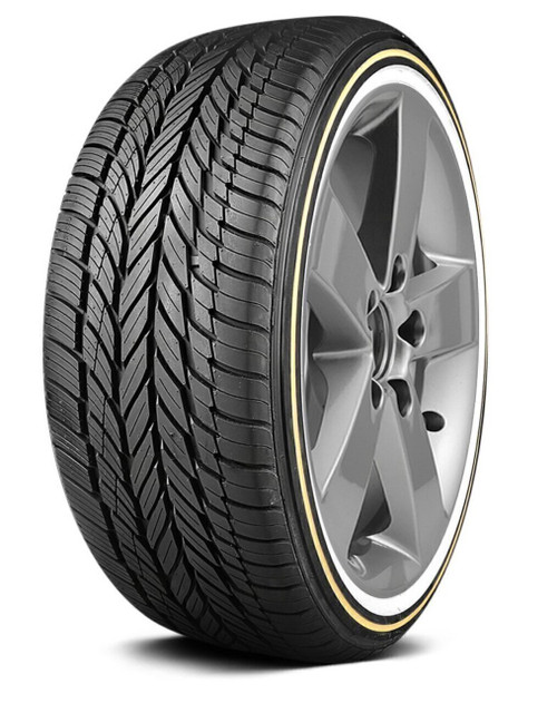 "245/40R20 VOGUE CUSTOM BUILT RADIAL VIII 99V XL 0.55"" GOLD/WHITE WALL 500AAA 60K"