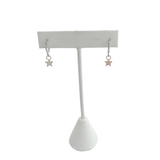 Silver Baby Star with Huggie Hoops on Stand