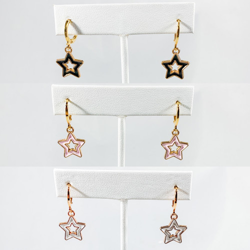 Open Starboy Huggie Hoops set of 3