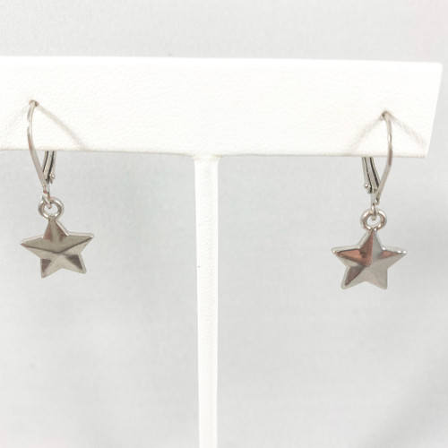 Closed Star Huggie Hoops Silver