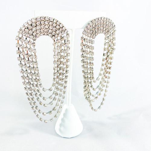 Silver Crystal Dangles