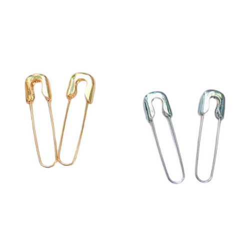 Pair of Classic Safety Pin Earrings