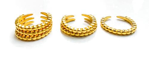 Gold Ridge Ring Stacks